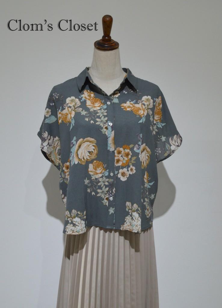 áo hoa ghi